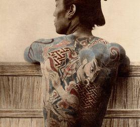 Photo PAYSAN TATOUÉ - Kusakabe Kimbei