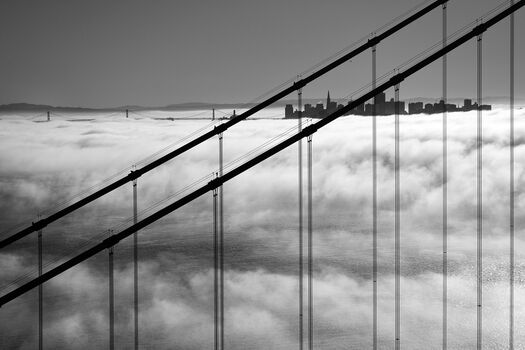 Photo Golden Gate And San Francisco Skyline - Christopher Bliss