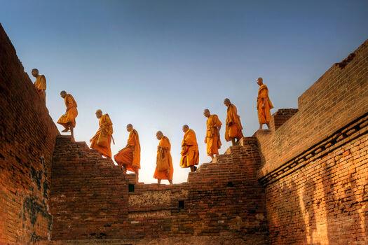 Photo Moines Bouddhistes Nalanda Inde II - Matthieu Ricard
