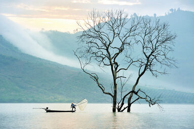 Fishing on nam ka lake