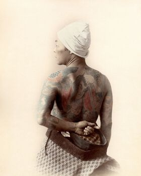 Photo DOS TATOUÉ, VERS 1880 - PHOTOGRAPHE ANONYME