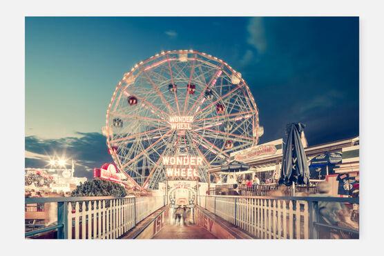 Photo Wonder Wheel By Night Coney Island NY - Franck Bohbot