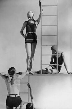 Photo Models in Jersey Swimwear - George Hoyningen-Huene