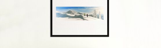 Photo SKIERS AT ARTIST POINT 1966 -