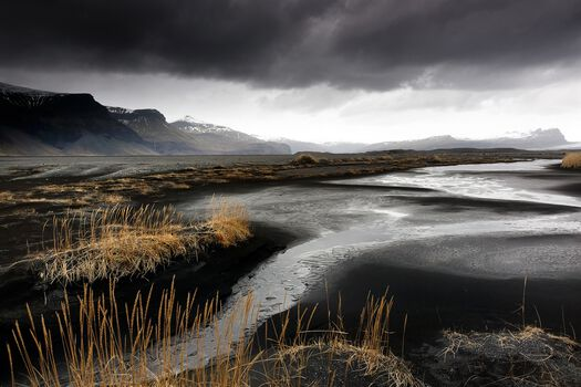Photo Sables noirs, Islande - Matthieu Ricard