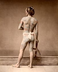 HOMME TATOUÉ, VERS 1875
