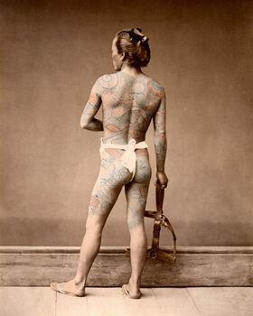 Photo HOMME TATOUÉ, VERS 1875 - Raimund Von StillfriedBaron