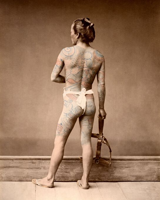 Photo HOMME TATOUÉ, VERS 1875 - Raimund Von Stillfried Baron