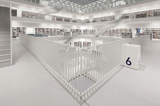 Photo Bibliothek Stuttgart Floor 6 - Bernhard Hartmann