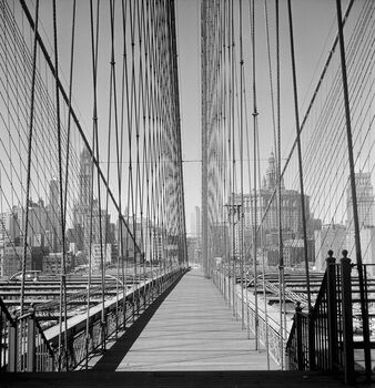 Photo Le pont de Brooklyn - PHOTOGRAPHE ANONYME