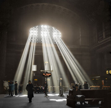Photo 1937 UNION STATION CHICAGO - Marie-Lou Chatel