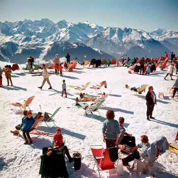 Photo VERBIER VACATION - Slim Aarons