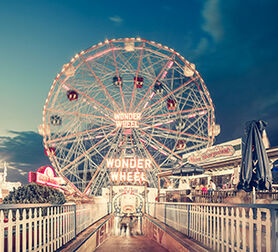 Photo Wonder Wheel By Night Coney Island NY - Franck Bohbot