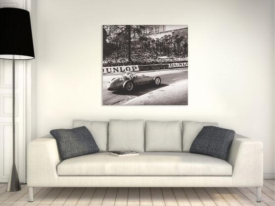 Photo Grand Prix de Pau, 1949, Fangio Maserati  - Jean Dieuzaide