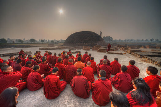 Photo Assemblée de moines - Matthieu Ricard
