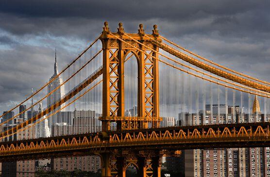 Photo New York Orange Manhattan Bridge - Christophe Morin