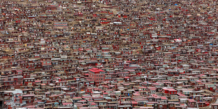 Photo LAROUNGAR MONASTERE TIBETAIN - Matthieu Ricard