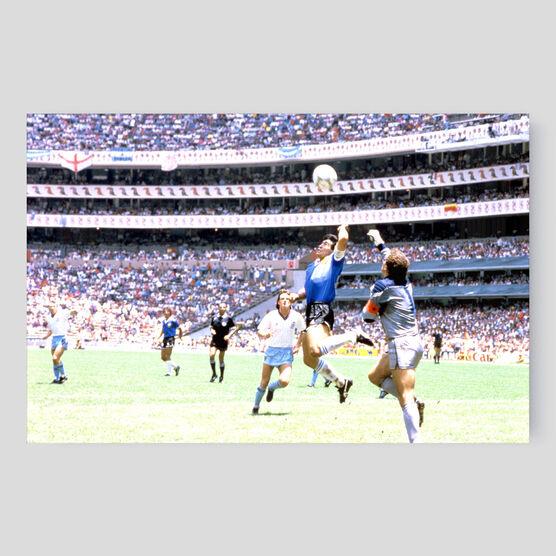 Photo La main de dieu, Mexico 1986 - SPORTS PRESSE