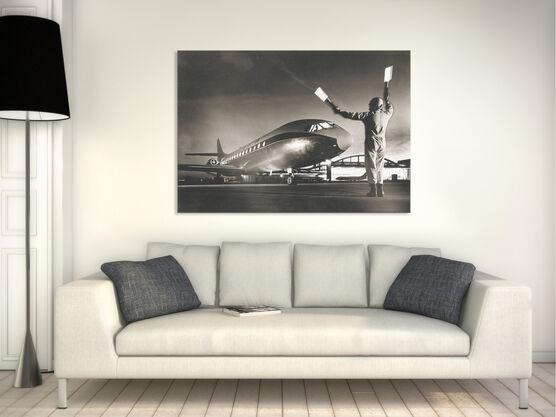 Photo Caravelle, atterrissage de nuit 1964  - Jean Dieuzaide