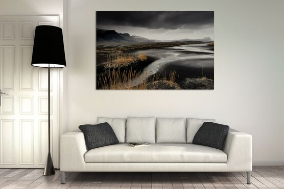 Photo Sables noirs, Islande - Matthieu Ricard