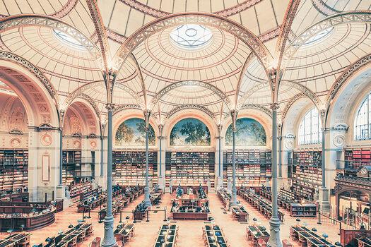 Photo SALLE LABROUSTE BIBLIOTHÉQUE DE L'INHA PARIS 2017 I - Franck Bohbot