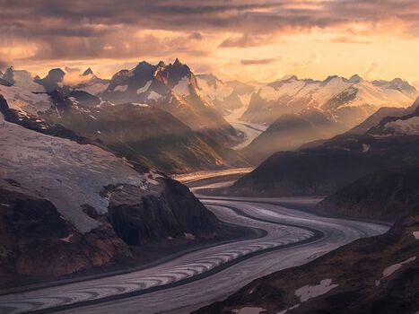 Photo Ice River Mountains Boundary Range Alaska - Marc Adamus