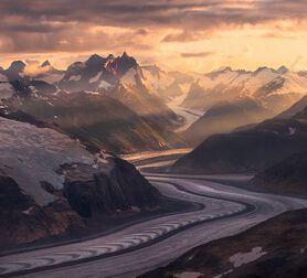 Photo Ice River Mountains Boundary Range Alaska - Marc Adamus