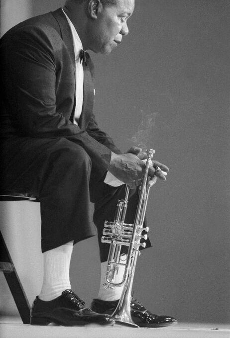 Photo Louis Armstrong, 1965 - Hervé Gloaguen