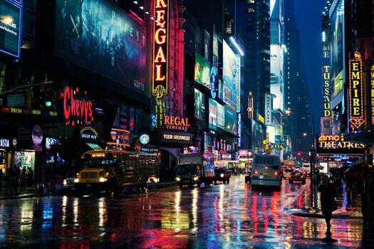 Photo Rainy Manhattan Night - Jörg Dickmann