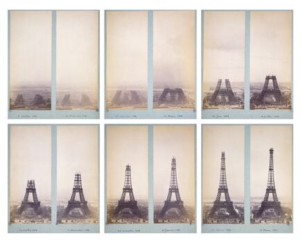 Photo Album de construction de la Tour Eiffel - PHOTOGRAPHE ANONYME