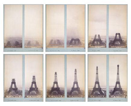 Photo Album de construction de la Tour Eiffel - PHOTOGRAPHE ANONYME