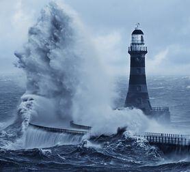 Photo Roker Lighthouse Bluetone - John Kirkwood