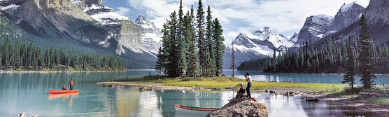 Photo MALIGNE LAKE 1960 - Colorama
