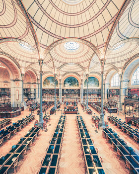Photo SALLE LABROUSTE BIBLIOTHÉQUE DE L'INHA PARIS 2017 III - Franck Bohbot