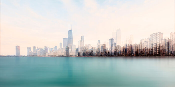 Photo CHICAGO FROM THE LAKE - Laurent Dequick