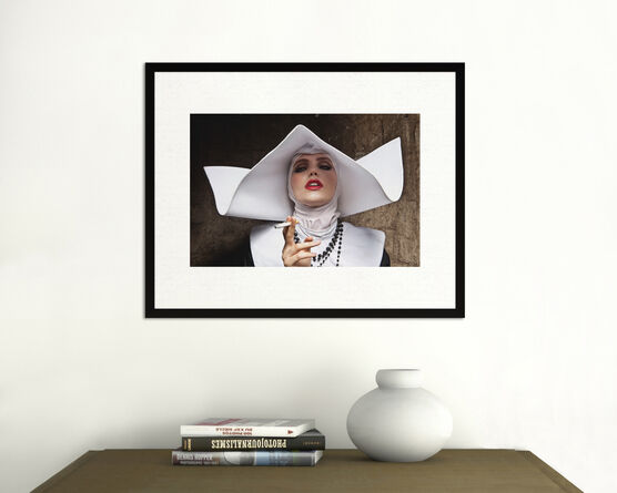 Photo Smoking Nun Cinecitta Italy - Formento+Formento