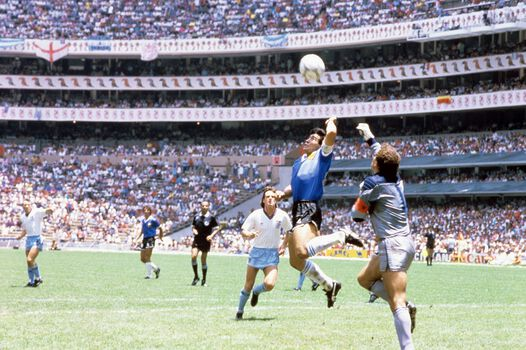 Photo La main de dieu, Mexico 1986 - SPORTS PRESSE