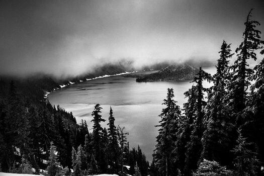 Photo Crater Lake Oregon - Laurent Baheux