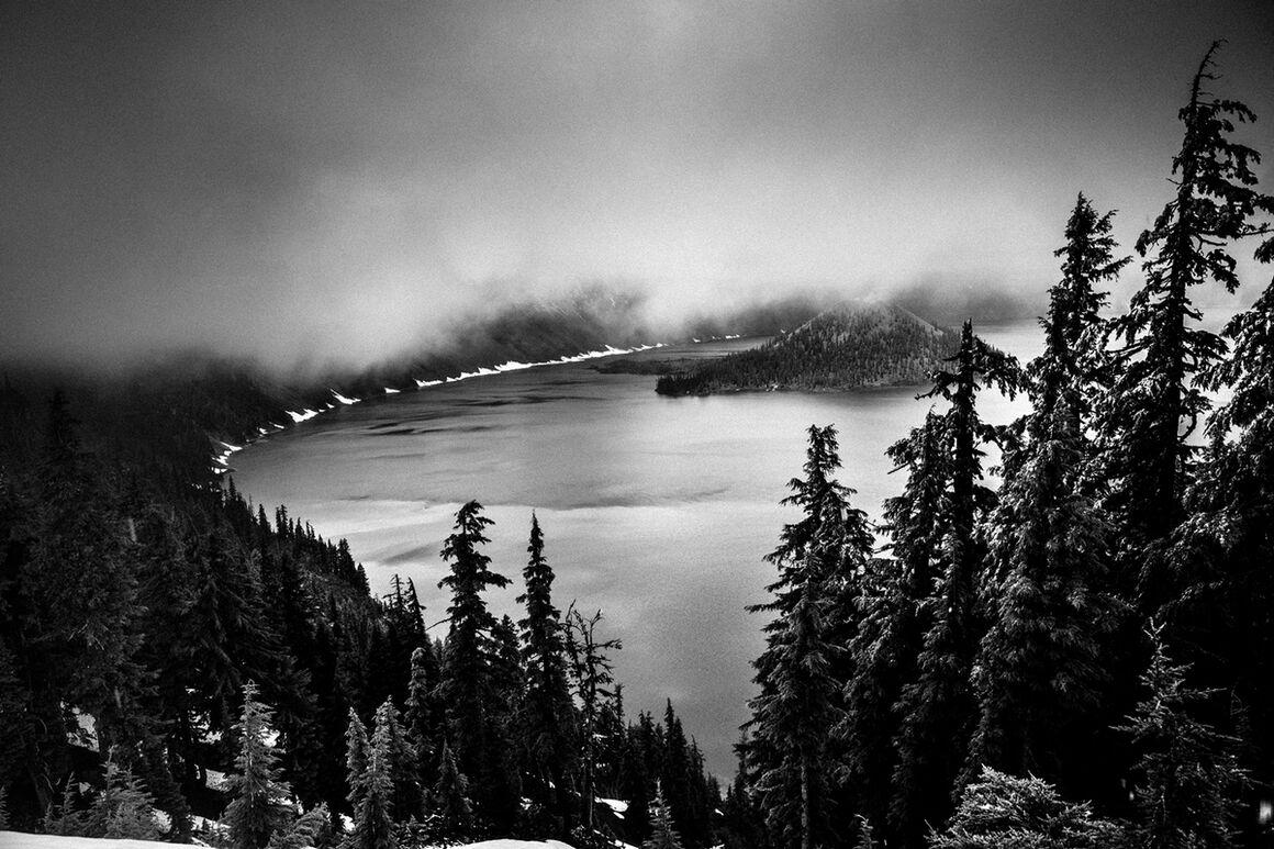Photograph: Crater Lake Oregon, Laurent Baheux · YellowKorner