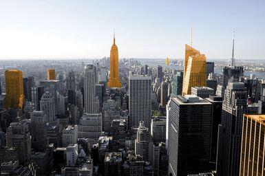 New York Orange Manhattan