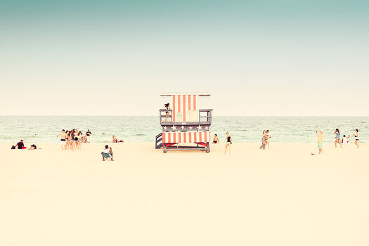 Photo MIAMI BEACH-LIFEGUARD STAND I - LDKPHOTO