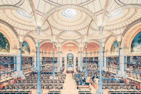 Photo SALLE LABROUSTE BIBLIOTHÉQUE DE L'INHA PARIS 2017 II - Franck Bohbot