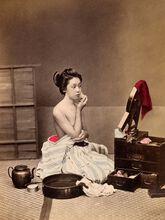La toilette,vers 1880