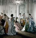 Photo FRENCH MODELS IN 1948 - Cecil Beaton