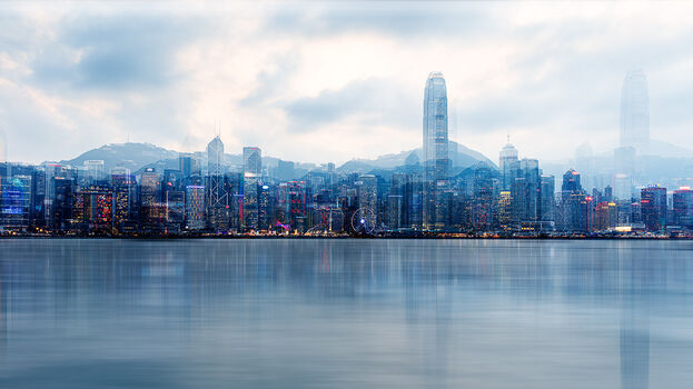 Photo HONG-KONG BLUE HOUR - Laurent Dequick