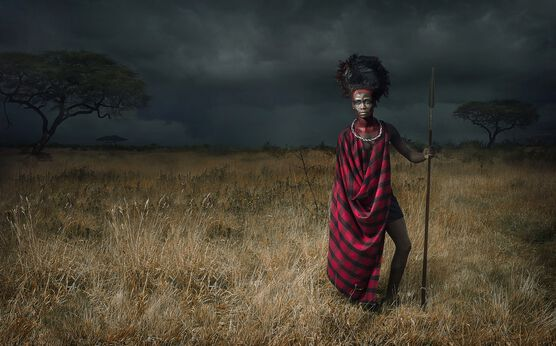 Photo Maasai - Before the Storm - Lee Howell