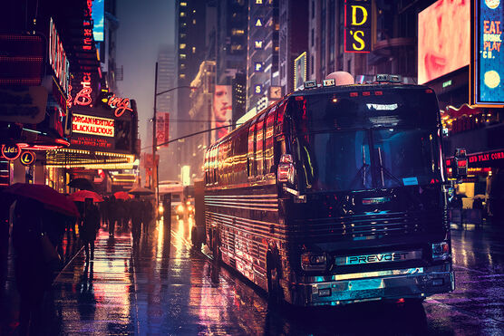 Photo RAINY EVENING VINTAGE MANHATTAN - Bernhard Hartmann