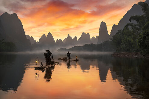 LI RIVER COLORED IN RED