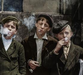 Photo 1910 THEY WERE ALL SMOKING MISSOURI - Marie-Lou Chatel