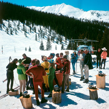 Photo SNOWMASS PICNIC - Slim Aarons